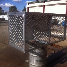 Alloy Two Dog Cage